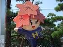 咲ちゃん 広島の「一番かわいい」ゆるキャラ、コカコーラ総合グランドに