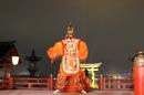 宮島 厳島神社の桃花祭、大鳥居バックに 陵王などの舞い 画像動画