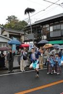 音戸清盛祭2012、5年ぶりのイベントは 雨の中の大名行列
