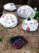 猫石コレクション、福山・鞆の浦の路地裏で会ったネコたち