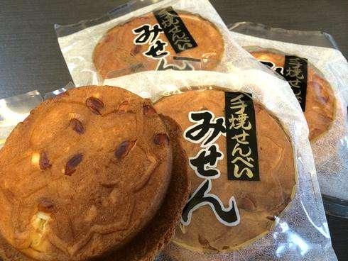 宮島の お土産に隠れた人気商品、岩むら みせん煎餅