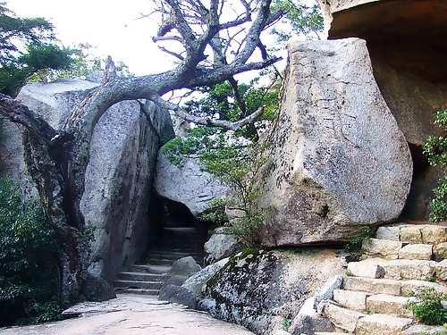 宮島 弥山 くぐり岩
