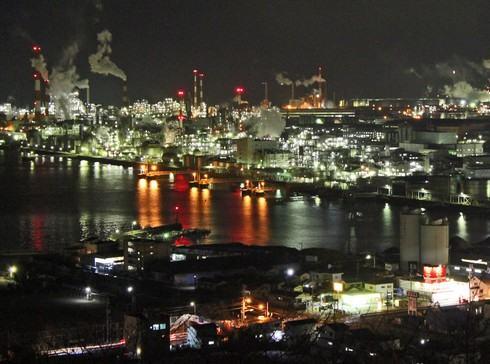 大竹市の夜景を眺める