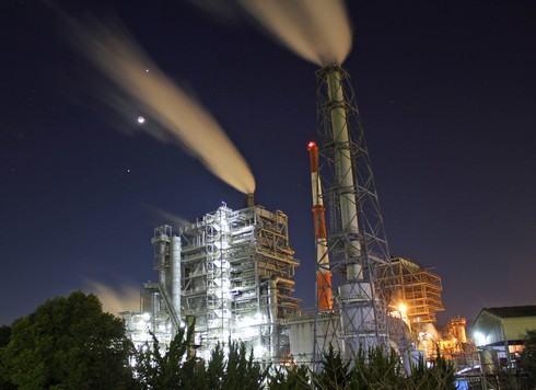 大竹コンビナートの夜景、工場萌え、NASAっぽい
