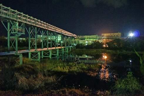 大竹コンビナートの夜景、工場萌え