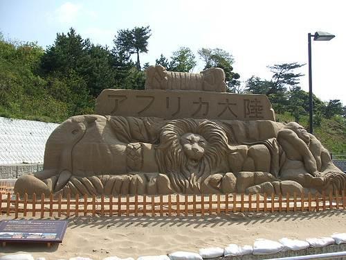 砂の美術館 画像 ライオン