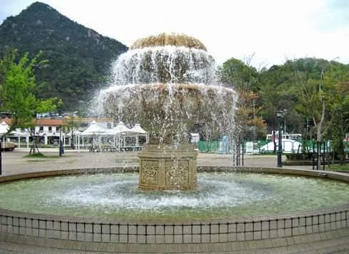 呉ポートピアパーク 園内の噴水