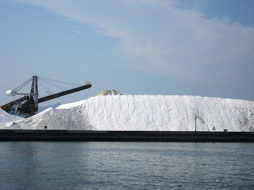 音戸 島全体が 塩の山 になっている三ツ子島