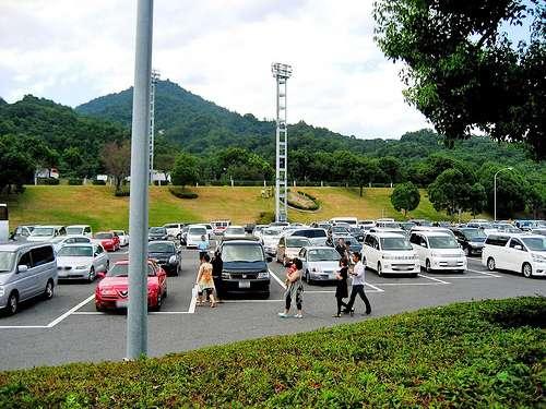 宮島SA下り、駐車場はいっぱい
