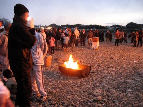 錦帯橋とんど祭り 2011 岩国市にて9