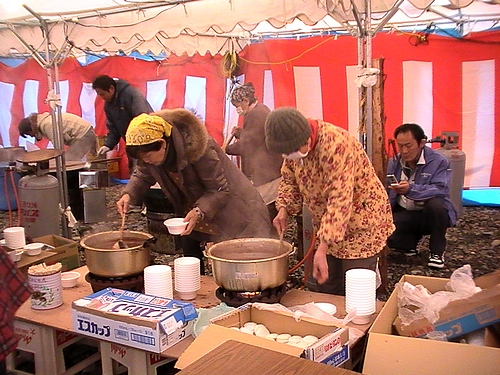 錦帯橋とんど祭り 2011 岩国市にて4