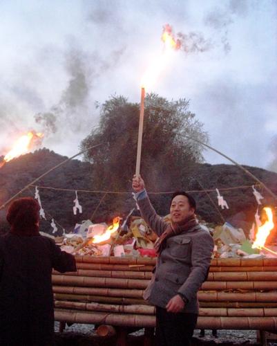 錦帯橋とんど祭り 2011 岩国市にて6