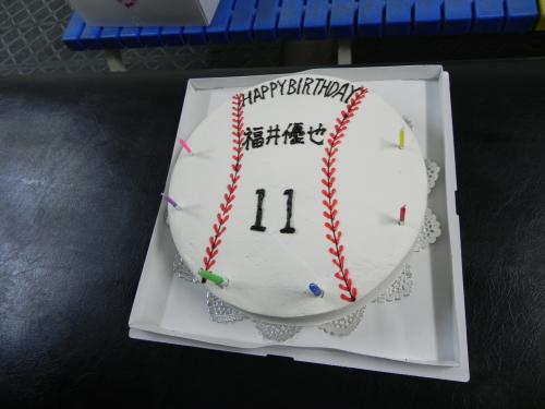 福井優也 投手 誕生日ケーキ