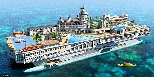 超豪華客船 モナコヨット 「ストリート・オブ・モナコ」!900億で船上に街を再現