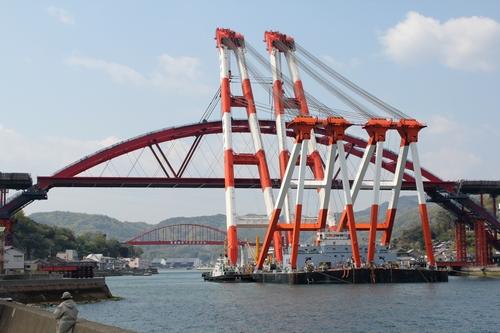 音戸大橋と、第2音戸大橋
