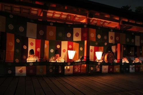 宮島 厳島神社の桃花祭20