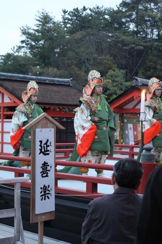 宮島 厳島神社の桃花祭6