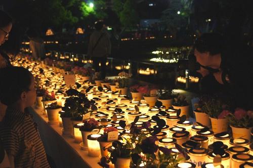 フラワーフェスティバル 閉幕、被災地復興と平和を祈った光