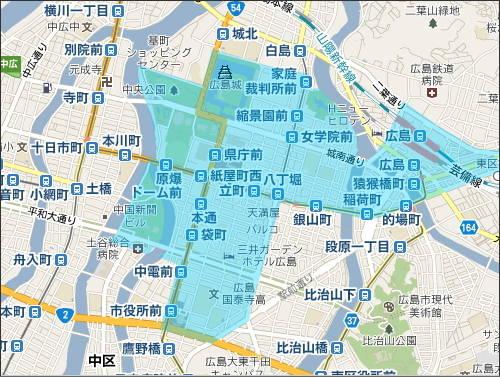 広島市でポイ捨て、歩きタバコが禁止のエリア