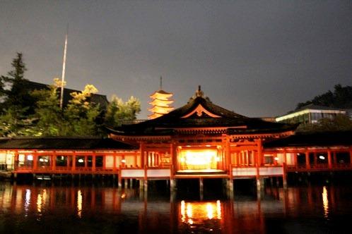 夜 安芸の宮島 画像10