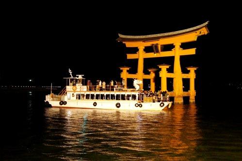 夜 安芸の宮島 画像8