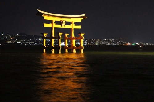 夜 安芸の宮島 画像9