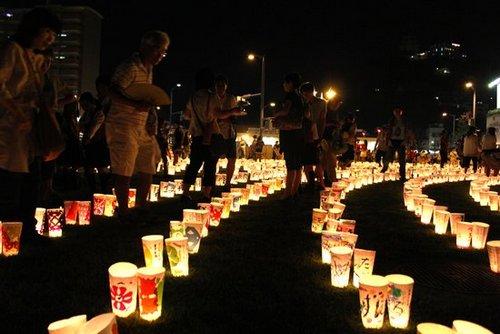 希望の灯りまつり、尾道駅前に5000個の灯り 画像3