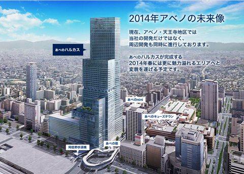 あべのハルカス、日本一高いビルが大阪に!ランドマークタワーを超えた