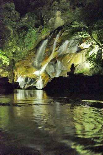 妹背の滝、8月のライトアップ