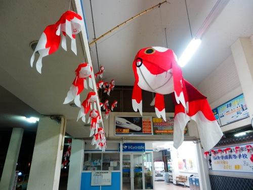 山口県 柳井市で 金魚ちょうちん祭り