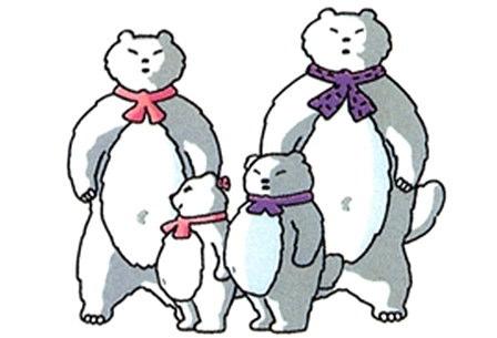 備北丘陵公園のマスコットキャラクターは、ひばお率いる「架空の動物」一家