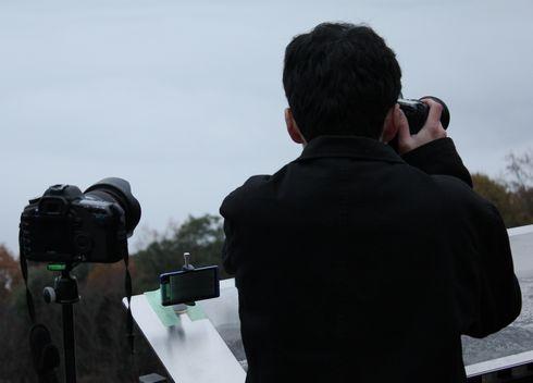 広島県 霧の海を写真に収める人々