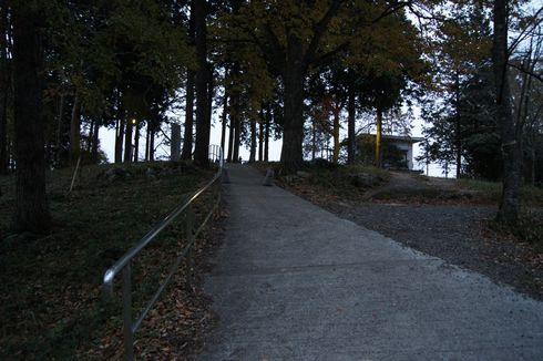 高谷山展望台へ向かう道