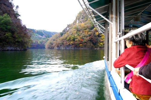 帝釈峡の遊覧船 写真