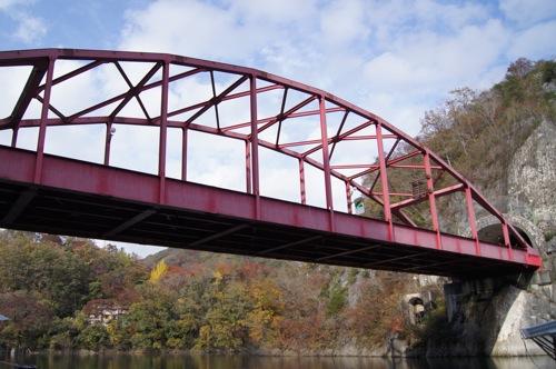 帝釈峡 遊覧船から見た 橋の様子