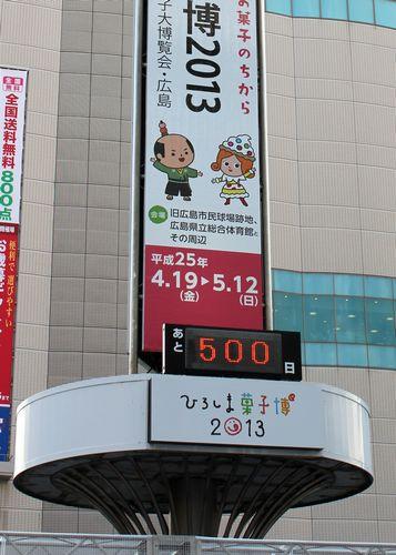 ひろしま菓子博2013 残日計の点灯