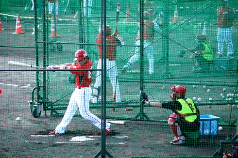 広島カープ 丸選手の打撃練習