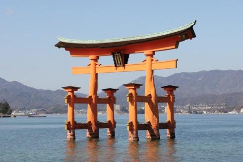 平清盛 色に染まる宮島の風景 画像1