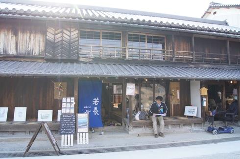 船宿カフェ若長(わかちょう)、週末の大崎下島