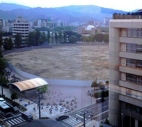 旧広島市民球場も更地に
