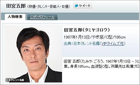 東京都 田宮五郎(46才)。
