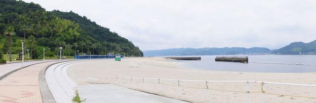 狩留賀海浜公園(ロマンチックビーチかるが) 砂浜パノラマ