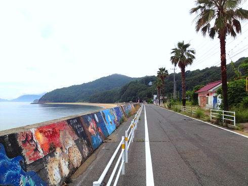 福山 横山海岸、魚釣りでも人気のスポット