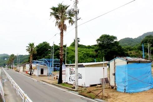 福山市 横山海岸 海水浴場と施設