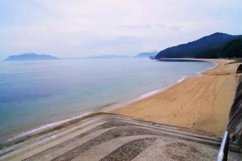 福山 横山海岸のビーチ