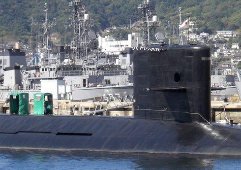 アレイからすこじま 潜水艦が見える