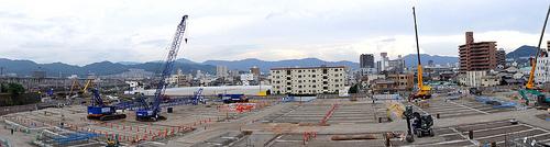 コストコ 広島、建設中の様子