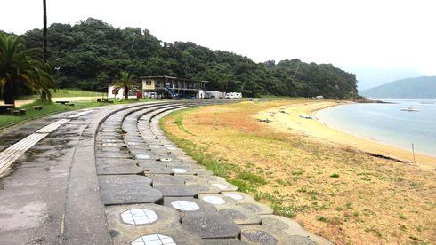 江田島 ビーチ長浜(長浜海岸) の全体の様子
