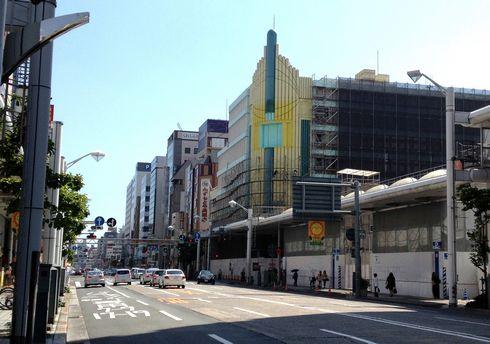 ドンキホーテ広島八丁堀店の横、すっぽり姿を消した広島宝塚