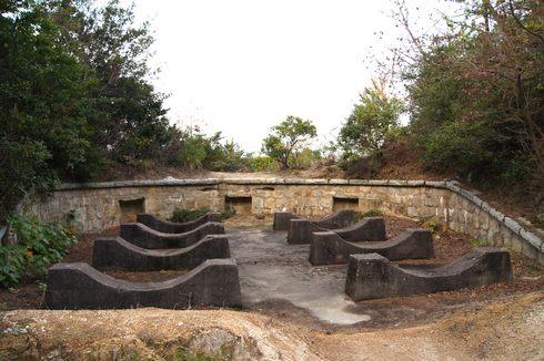 うさぎ島 大久野島の砲台跡